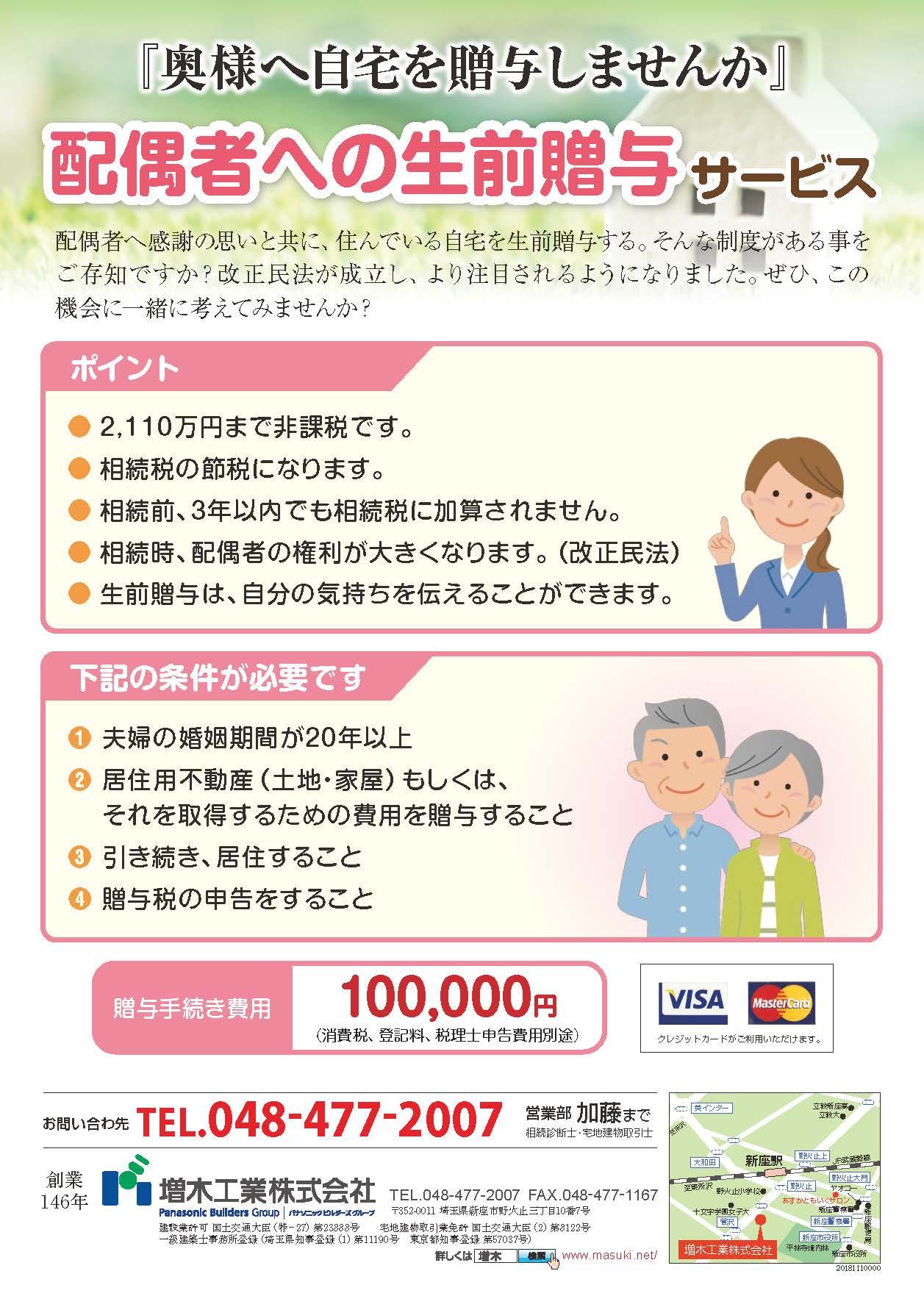 配偶者への生前贈与サービス/5のイメージ